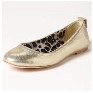"⭐️Coach ""Anora"" Metallic Gold Leather Ballet Flats"